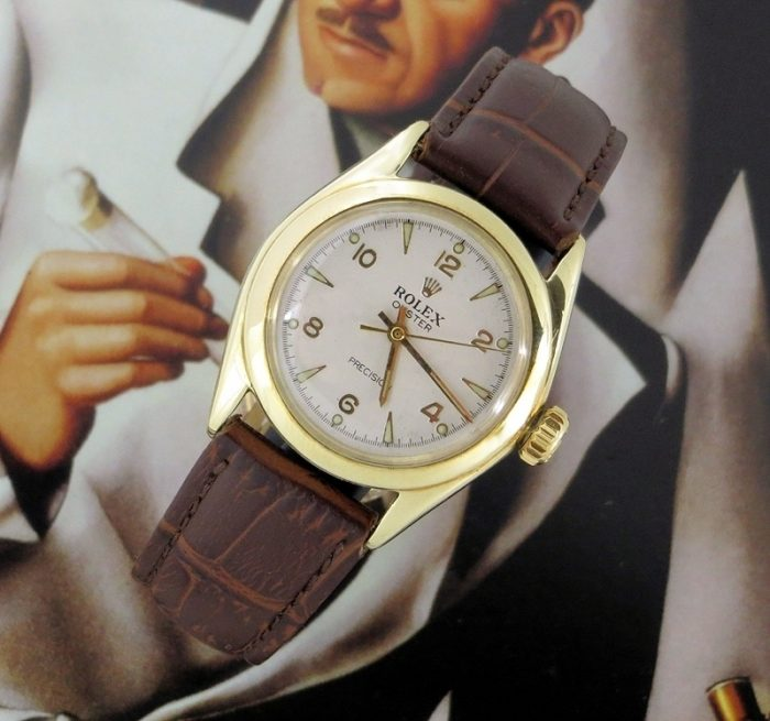10ct gold vintage Rolex Oyster Speedking from 1951