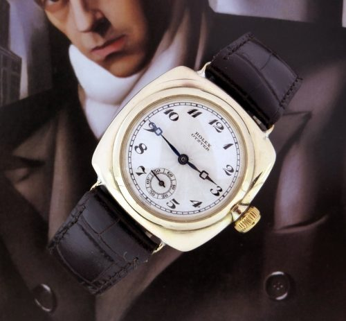 1934 Vintage 9ct gold Rolex Cushion Oyster