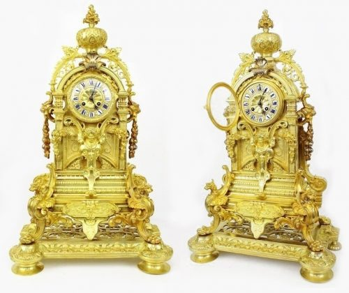 Outstanding French antique Ormolu clock c1870