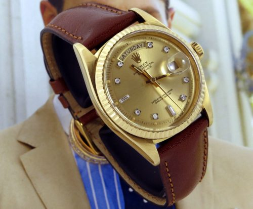 18ct Gold vintage diamond Rolex Day-Date ref 1803