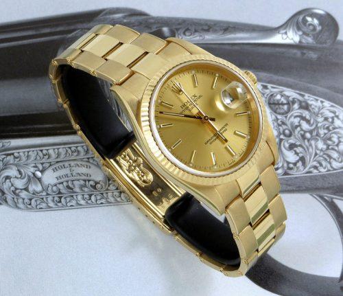 Bargain men's 18ct gold Rolex Oyster Perpetual Date