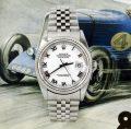 Beautiful classic steel men's Rolex Datejust 16234