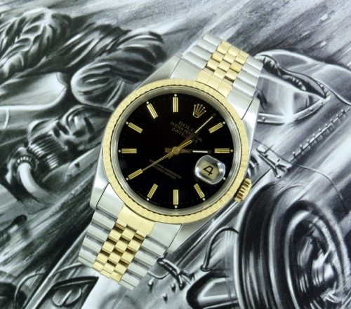Classic men's steel & gold Rolex Datejust 16233