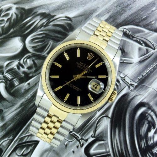Classic men's steel & gold Rolex Datejust 16233