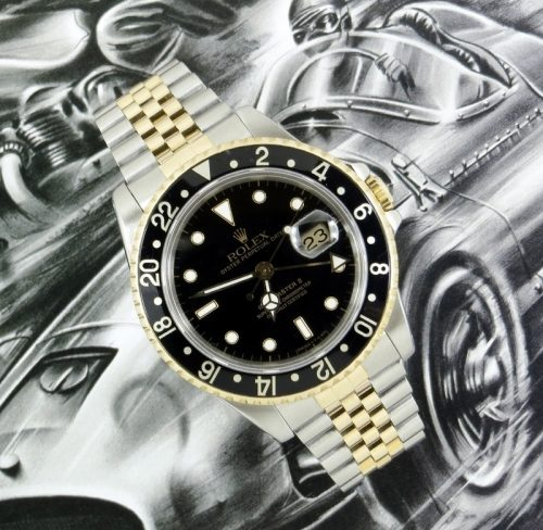 Steel & Gold Rolex GMT Master II Rolex ref 16713