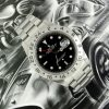 Stainless steel Rolex Explorer II black dial ref 16570