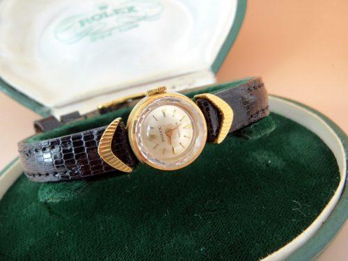 18ct gold vintage ladies Rolex 1950's original box