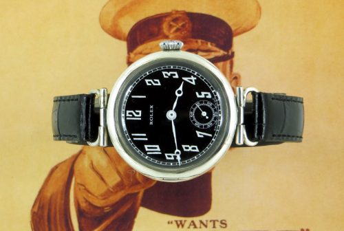 Silver vintage Rolex officers watch hallmarked 1915