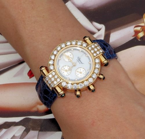 Amazing ladies 18ct gold & diamond Chopard watch