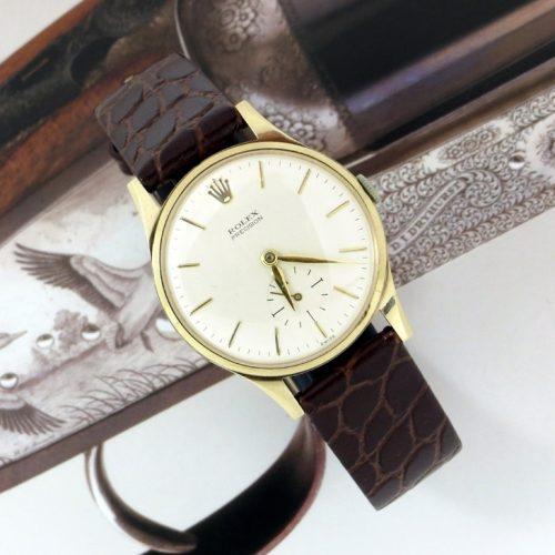 1960's gold men's Rolex Precision with vintage box