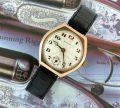 Mint 9ct gold rare shaped vintage Rolex 1930