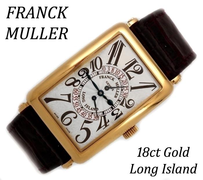 18ct Franck Muller Long Island retro second complication
