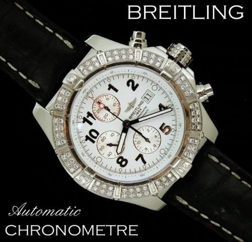 XL Diamond set Breitling auto Chronometre - BARGAIN PRICE