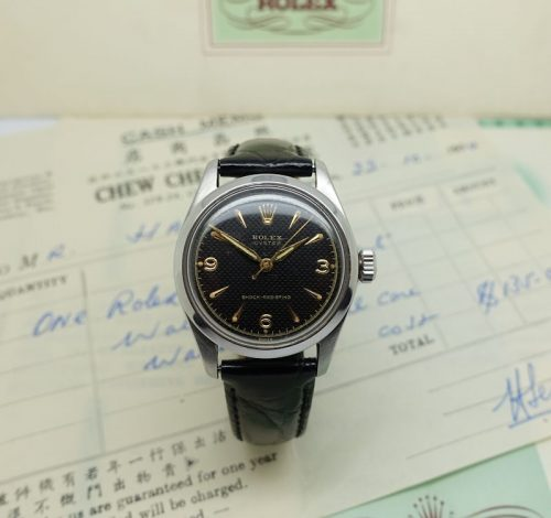 Rare gents Rolex Oyster with honeycomb dial
