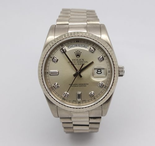 Gents 18ct White Gold Rolex Day-date 118239