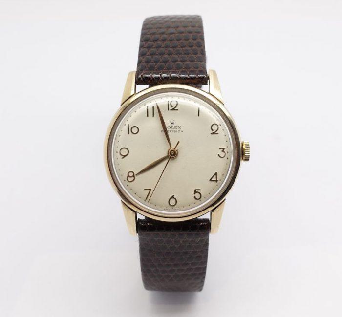 Gents 9ct gold Vintage Rolex Precision