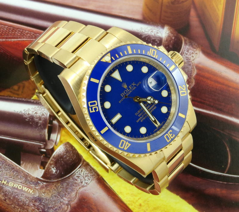 hot sale online 0fc6f 6977b Unworn 18ct Gold Rolex Submariner all docs ref 116618LB ...