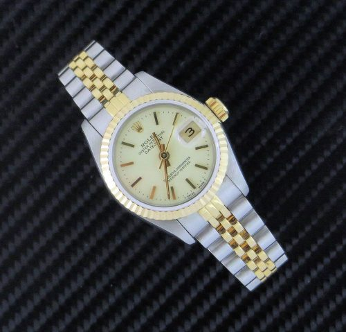 Ladies steel & gold Rolex Datejust with Ivory dial