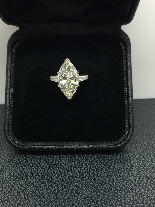 INCREDIBLE 5.17ct MARQUISE DIAMOND RING