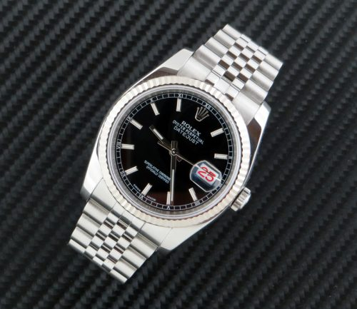 2013 men's Rolex Datejust roulette date wheel