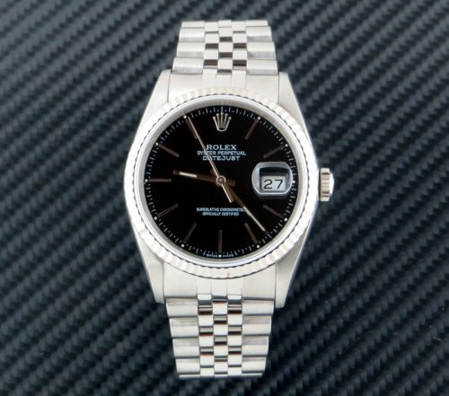 Stainless steel Rolex Datejust ref 16234