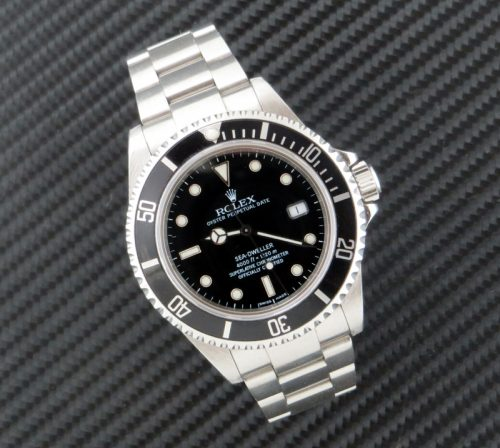 Steel Rolex Sea Dweller with Rolex box & docs